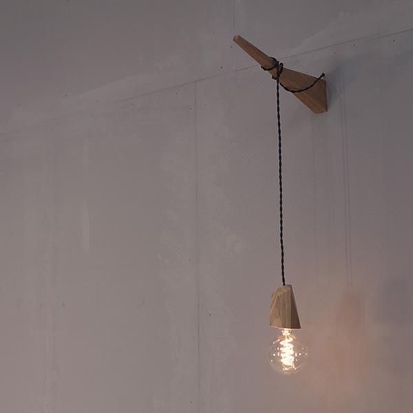 Holzlampe Fitis Wandhalterung