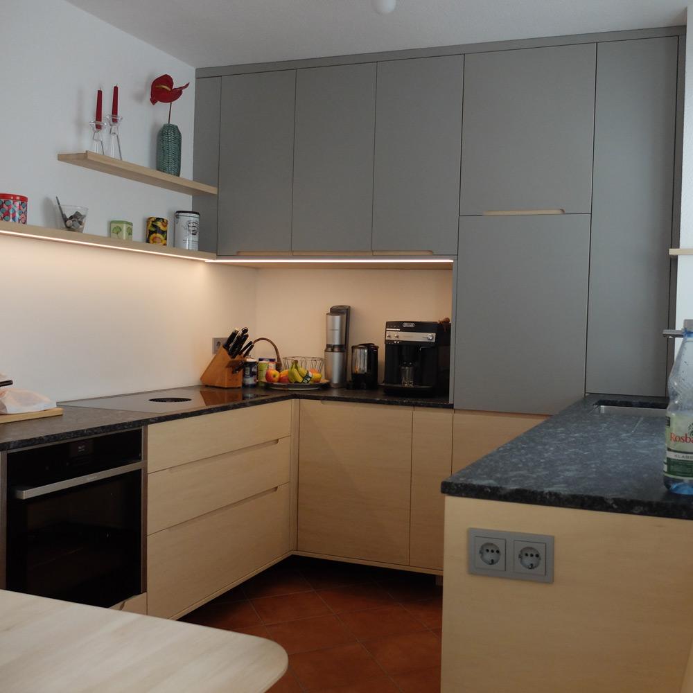 Küche in Hainbuche