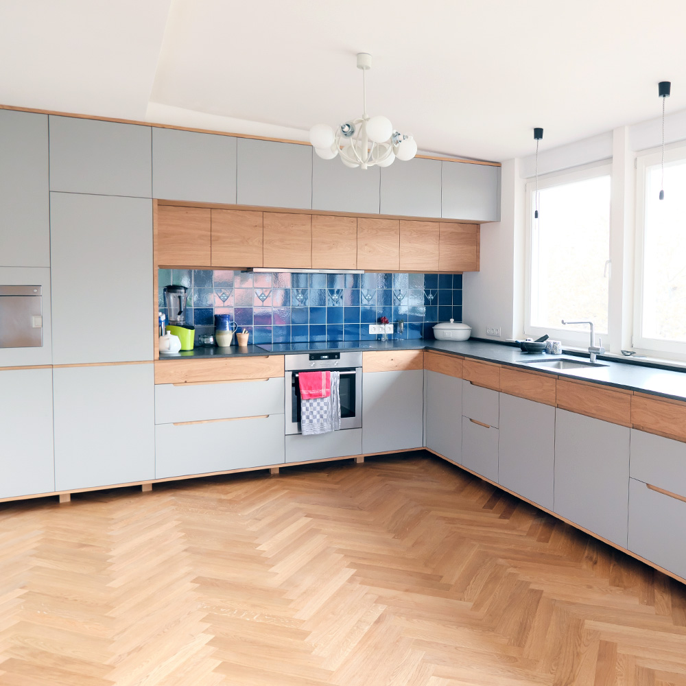 Küche grauen Elementen
