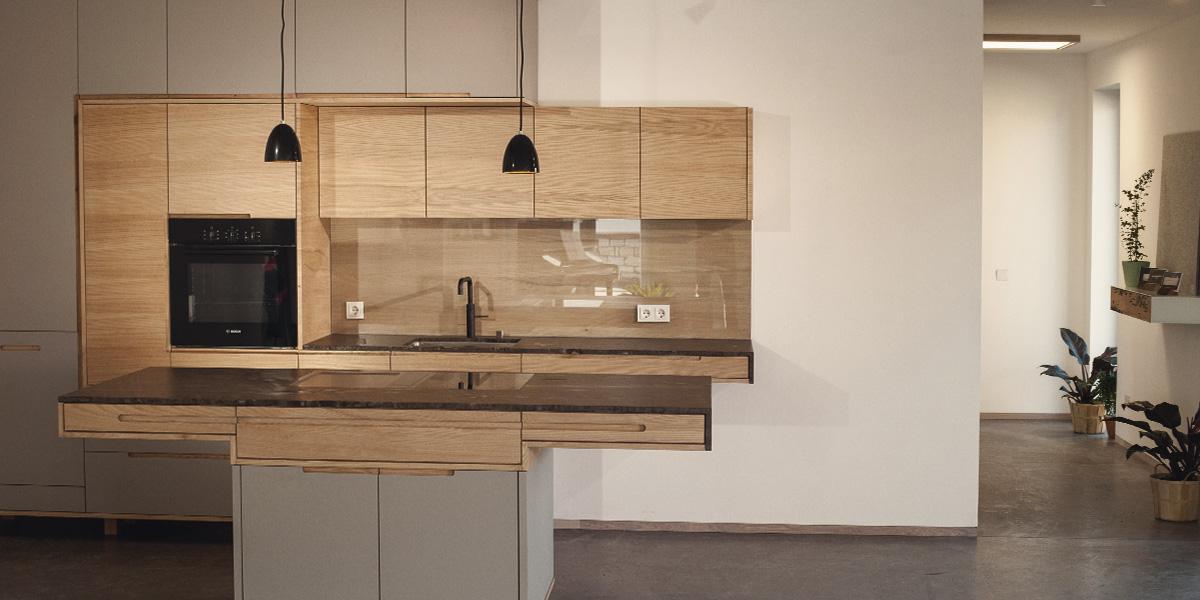Küche aus Vollholz individuell